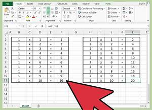 How To Make A Excel Chart With Two Y Axis How To Make A Multiplication Table 12 Steps With Pictures