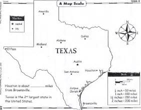 Texas Map with Distance Scale