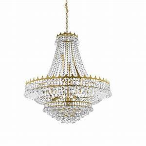 Kronleuchter Gold Günstig : kronleuchter 13 flg versailles kristallglas gold gold wohnlicht ~ Markanthonyermac.com Haus und Dekorationen