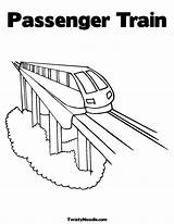 Train Coloring Amtrak Pages Template Colouring Passenger Popular Coloringhome sketch template