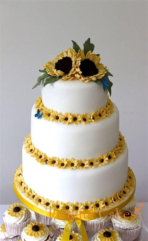 sunflower cakes ideas  pinterest sunflower