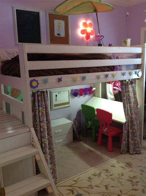 Ana White | Art Studio Loft Bed - DIY Projects
