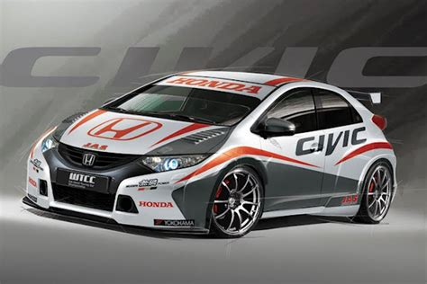 wtcc honda civic racing car oopscars
