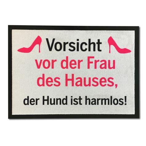 Witzige Fußmatte Vorsicht Frau online kaufen geschenkBOXde