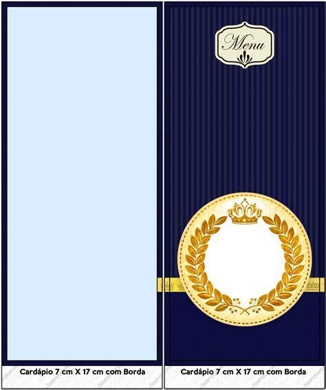 kit festa completo coroa de principe azul marinho 96