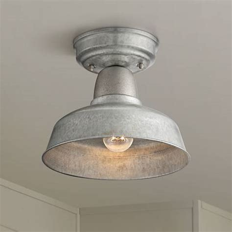 urban barn   galvanized steel outdoor ceiling light