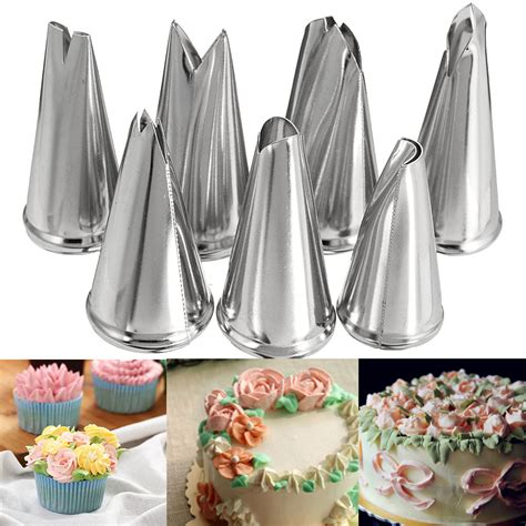 pcs leaf cupcake decor stainless steel icing piping