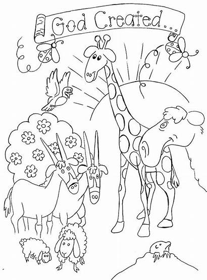 Coloring Pages God Created Earth Bible Popular