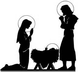 Nativity Scene Silhouette Clip Art