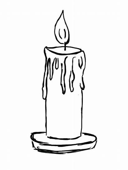 Candle Coloring Pages Birthday Sketch Printable Lamp