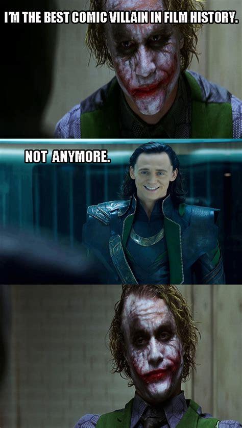 joker  loki dark knight  pane   meme