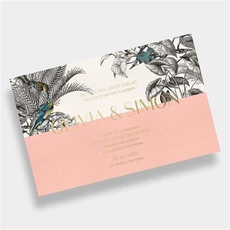 Tropical Wedding Invitation / Palms / Black + White
