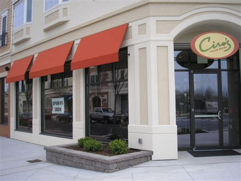 commercial store front awnings gallery kreiders canvas service