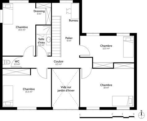 plan maison contemporaine avec 5 chambres ooreka