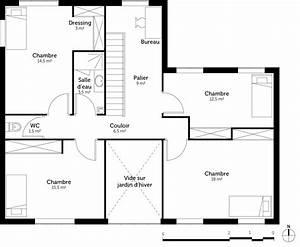 plan maison contemporaine avec 5 chambres ooreka With plan de maison a etage 5 chambres