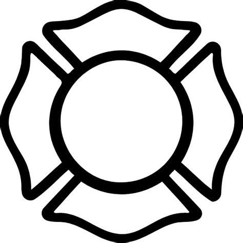 14074 firefighter helmet clipart black and white fireman maltese cross decal sticker 01