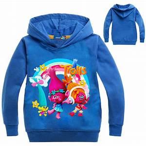 Newest Trolls Hoodies Kids Girls Jumper Pullover ...