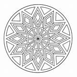 Kaleidoscope Mandala Coloring Pages Books Printable Q4 Coloringpages sketch template
