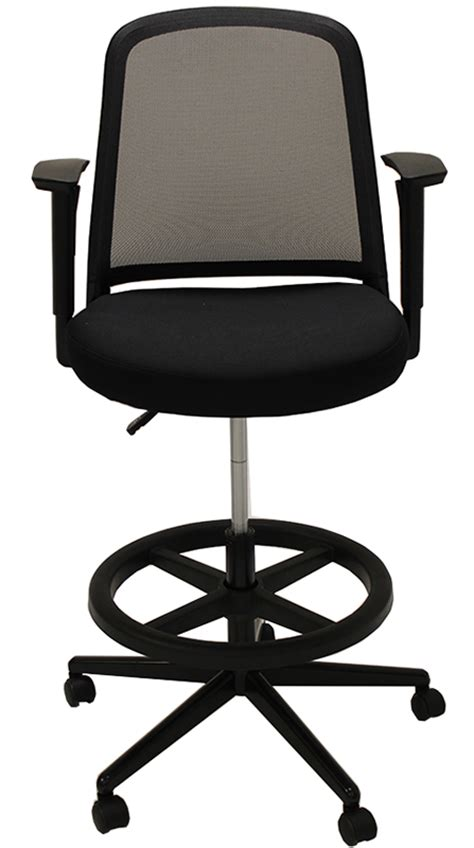 mesh back drafting stool 22 quot 31 quot seat height