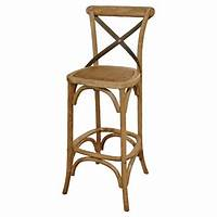 french country bar stools Valois French Country Metal Cross Oak Bar Stool | Kathy ...