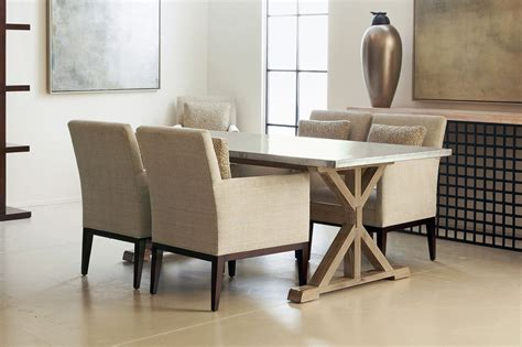 Wondrous Design Of Cream Leather Comfortable Dining Chairs