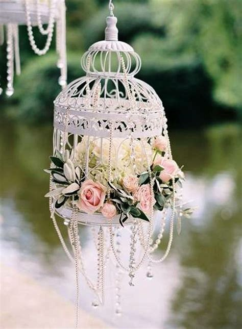 shabby chic birdcage using bird cages for decor 46 beautiful ideas digsdigs