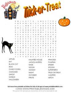 Free Printable Halloween Word Search Puzzles