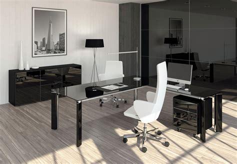 mobilier de bureau contemporain bureau direction verre en paca style contemporain nos