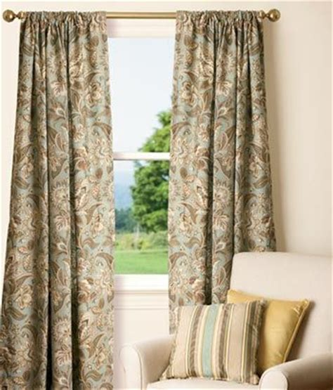 jacobean floral lined rod pocket curtains rod pocket curtains jacobean and paisley on
