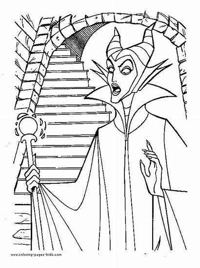 Sleeping Beauty Coloring Witch Pages Wicked Disney