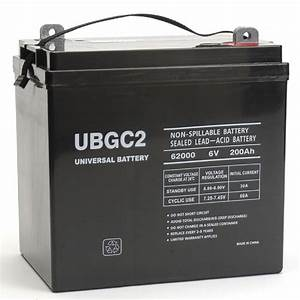 Batterie Golf 4 : universal power group ubgc2 sealed agm deep cycle 6v 200ah ~ Carolinahurricanesstore.com Idées de Décoration