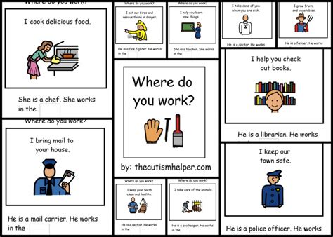 community helpers matching worksheets kindergarten