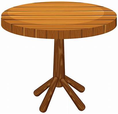 Table Round Wooden Background Vector Illustration Drawing