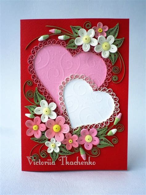 hearts quilled design frame quilling designs quilling