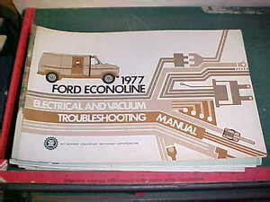 ford econoline electrical vacuum troubleshoot manual