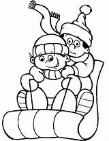 Coloring Winter Sledding Inverno Desenhos Colorir Sled Sheet Desenho Persone Rodeln Imprimir Pintar Snow Figura Colorindo Cartoon Malvorlage Sport Disegno sketch template