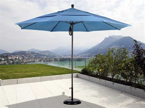 California Umbrella 11 Foot Round Market Aluminum Patio