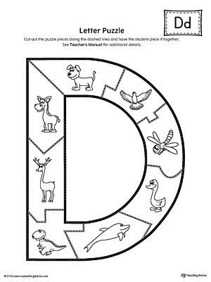 letter  puzzle printable  images letter