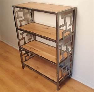 Bibliothèque Métal Et Bois : mobilier bois m tal sur mesure le blog du bois ~ Teatrodelosmanantiales.com Idées de Décoration