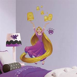 roommates 5 in x 19 in disney sparkling rapunzel 18 With disney wall decals