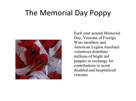 Story Of The Memorial Day Poppy