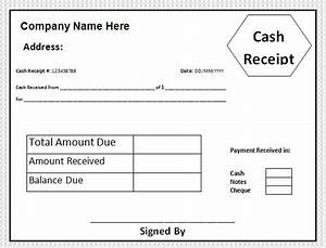 29 cash receipt templates sample templates With receipt of funds template