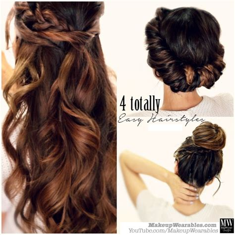how to 3 easy back to school hairstyles for long hair