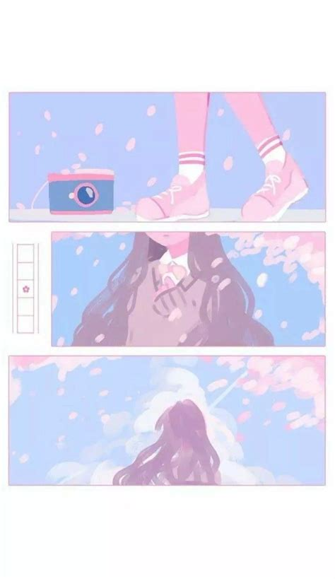anime aesthetic pink wallpapers