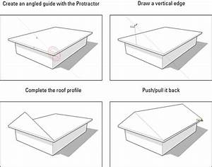 How To Build A Gabled Roof In Google Sketchup 8