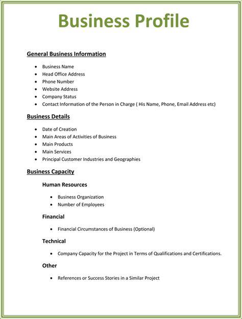 business profile templates easily create professional
