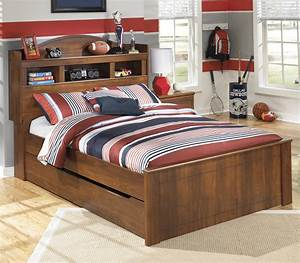 Signature, Design, By, Ashley, Barchan, Full, Bookcase, Bed, With, Trundle, Under, Bed, Storage, Unit