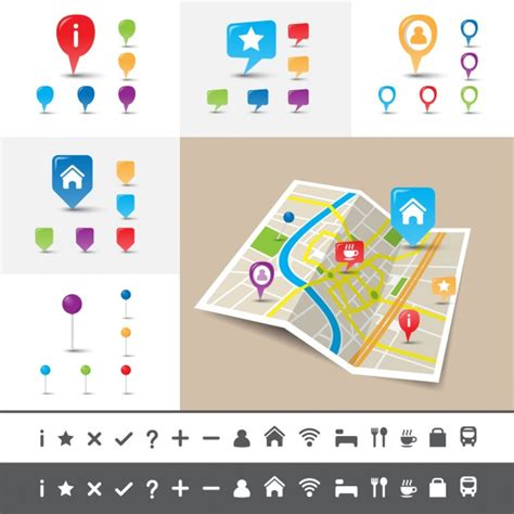Pngtree has millions of free png, vectors and psd graphic resources for. Map icon set | Free Vector