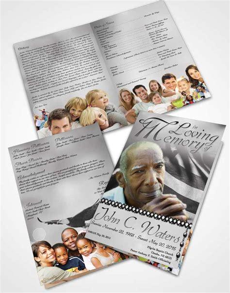 bifold order  service obituary template brochure