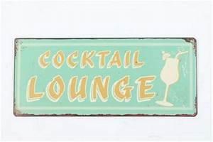 Blechschilder Sprüche Vintage : blechschild cocktail lounge vintage deko schild f r ~ Michelbontemps.com Haus und Dekorationen